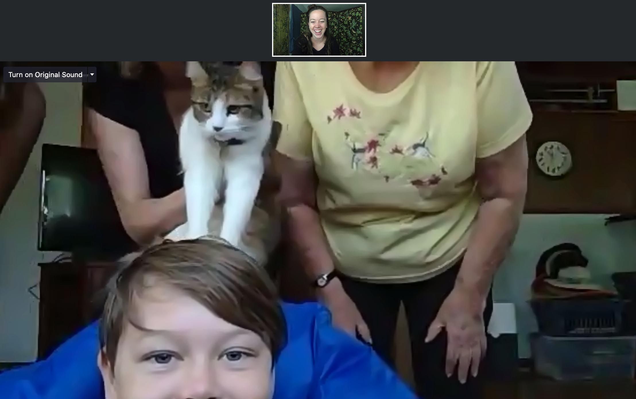 Screenshot of a Zoom coaching meeting.
